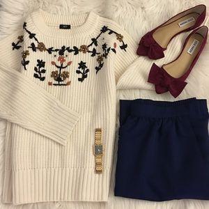 Vintage | Navy skirt
